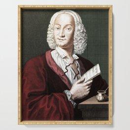 Antonio Vivaldi (1678-1741) by Morellon de la Cave in 1725 Serving Tray