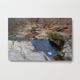 down the river through the woods to grandmother's house we go Metal Print