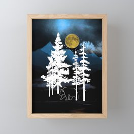 Full Moon Rising II Framed Mini Art Print