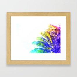 Fantasic Rainbow Palm Tree Framed Art Print