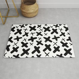 Abstract Plus Sign Modern Pattern Rug