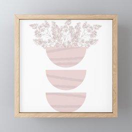 Mid Century Modern Flower Bowls Framed Mini Art Print