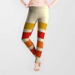 Abstract Minimal Retro Stripes 70s Style - Nagatane Leggings