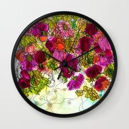 Dog-Rose. Autumn. Wall Clock