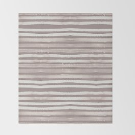 Simply Shibori Stripes Lunar Gray and Red Earth Throw Blanket