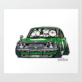Crazy Car Art 0142 Art Print