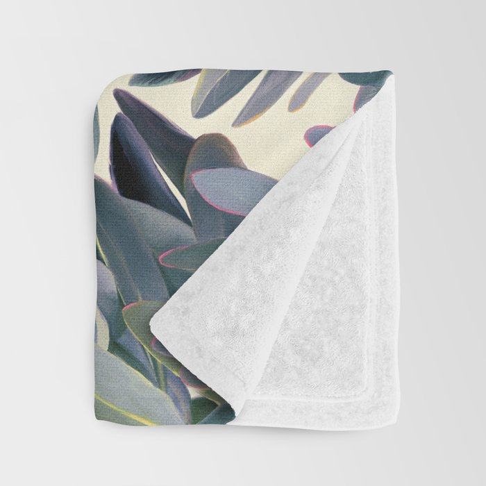 Painted Protea Pattern Throw Blanket