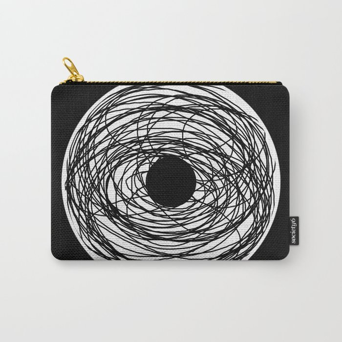 Eye Of The Storm - Abstract, black and white, minimalistic, minimal artwork Carry-All Pouch