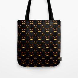 Cool scary Jack O'Lantern face Halloween pattern Tote Bag