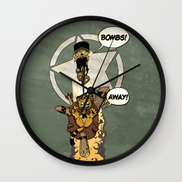 Bombs Away  Wall Clock