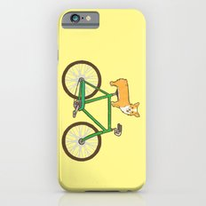 Corgi on a bike Slim Case iPhone 6