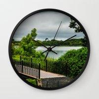 bridge Wall Clocks featuring Bridge  by Ashley Hirst Photography