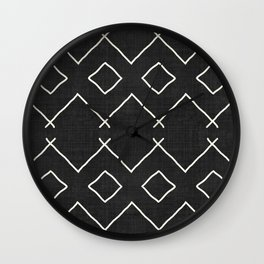 Bath in Black and White Wall Clock