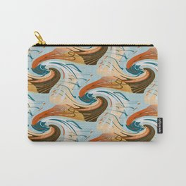 abstract waves pattern Carry-All Pouch
