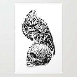 Red-Tail Skull Art Print