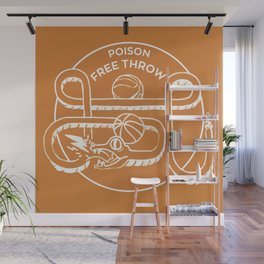 POISON FREE THROW Wall Mural