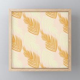 faded pink palms Framed Mini Art Print