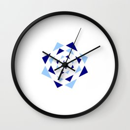 Star of David 37- Jerusalem -יְרוּשָׁלַיִם,israel,hebrew,judaism,jew,david,magen david Wall Clock