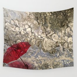 """""""Parapluie Perdu"""" (The Lost Umbrella) by Laurie Ann Hunter Wall Tapestry"""