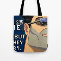 ben giles Tote Bags featuring Ben by Be Yourself