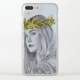 Maleficent Aurora Princess Drawing Clear iPhone Case
