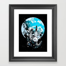 The Lost Astronaut  Framed Art Print