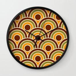 Retro Japanese Sun scale 70s Art Deco Wall Clock