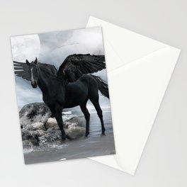 Black Pegasus Stationery Cards