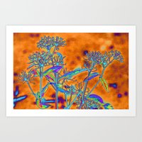 popart Art Prints featuring PopArt Floral by AlexisAnne