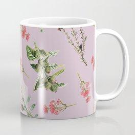 Thistle Floral Toss in Purple Wildflower Coffee Mug