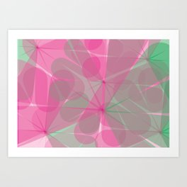Pnk-Green pattern Art Print