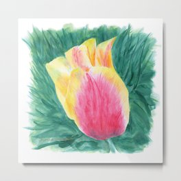 Tropical Tulip by Teresa Thompson Metal Print