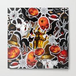 Halloween Spooky Cartoon Saga Metal Print