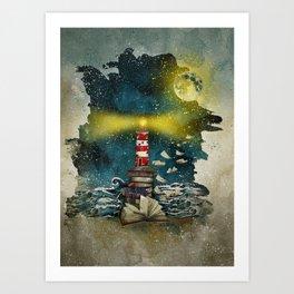 the sea is poetry Art Print