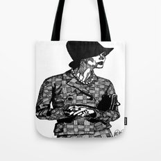 B&W Fashion Illustration - Tweed Tote Bag