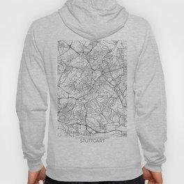 Stuttgart Map White Hoody