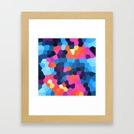Geometric Brights Framed Art Print