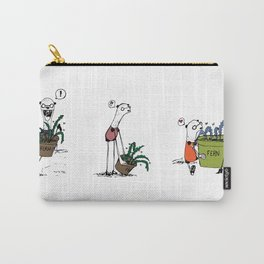 Bear and Weasel: The Love Fern Carry-All Pouch