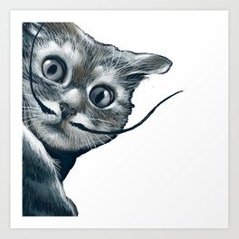 dali the cat Art Print