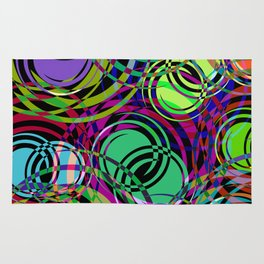 Background of spirals and circles. Calm color schemes for the design of a background or banner from Rug