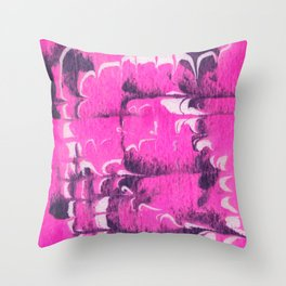 marble tie dye: bright pink Throw Pillow