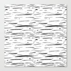 Birch Black and White Canvas Print
