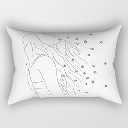 people like me gone forever when you say goodbye Rectangular Pillow