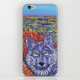 Wolf Wandering Mt Muscoco, Colorado USA iPhone Skin