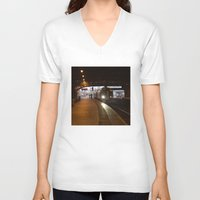 train V-neck T-shirts featuring Train by RMK Creative