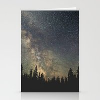 milky way Stationery Cards featuring Milky Way by Luke Gram