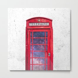 Telephone Box Portal London England Metal Print