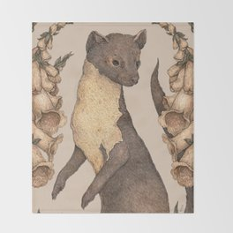 The Marten and Foxglove Throw Blanket