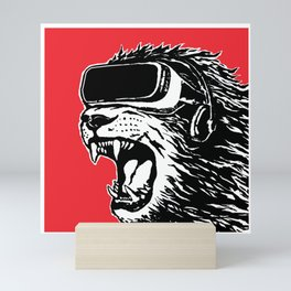 VR Lion Mini Art Print