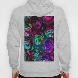 closeup rose texture pattern abstract background in red purple blue Hoody